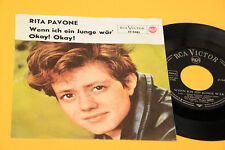 "RITA PAVONE 7"" OKAY OKAY ORIG '60 CANTA IN TEDESCO EX !!!!!!!!!!!!!!"