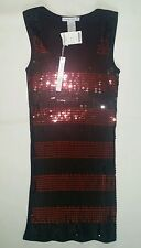 Women's M, 100% Cotton, Striped, Sleeveless Sequence Top by Connection, New!