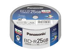 30 Panasonic Bluray BD-R 25GB 6X Speed Printable Blu ray Original Spindle JAPAN