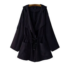 Women Warm Hooded Long Coat Jacket Ladies Trench Windbreaker Parka Outwear