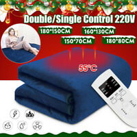 Winter Warm Electric Blanket Heated Thermal Luxury Large Double Bed Heat Control