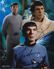 LEONARD NIMOY MISTER SPOCK SIGNED 8X10 COLOR PHOTO STAR TREK AUTOGRAPH