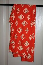 LuLaRoe - Leggings - Orange & tan geom - One Size - NEW with tags
