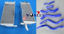 For HONDA CR125R CR125 1990-1997 91 92 93 94 95 96 Aluminum radiator & hose BLUE