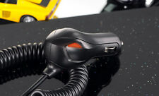 Samsung Galaxy S3 S4 S6 Compatible Dual LED micro USB Car Charger Coiled Cable