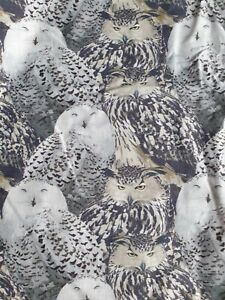 EAGLE-OWLS - Cotton woven fabric Sewing Material Cotton Fabric by the Half Metre