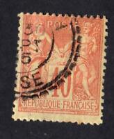TYPE SAGE - N:94  timbre oblitéré cachet perlé