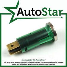 Green Warning Light Chrome Bezel 12v 12 volt Dash Indicator Classic Kit Car Wire