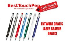 100 Piece Metal Best Touch Pen Ballpoint pen with engraving. no cost more