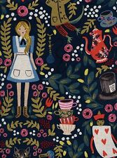 WONDERLAND RIFLE PAPER CO Cotton and Steel CANVAS Fabric - 1/2 yard