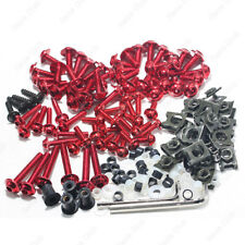 Red Fairing Bolt Kit body screws Clip For Yamaha YZF R1 1998-1999 R1 2000-2001