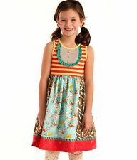 MATILDA JANE Wonderful Parade ODE TO SHOES TANK DRESS Birds Ruffles 4 (FITS 2/4)