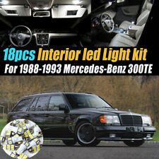18Pc Car Interior LED White Light Bulb Kit for 1988-1993 Mercedes-Benz 300TE