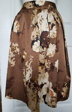 NWOT Talbots Sz 10P Floral Print Pleated Skirt, Lined, Side Zip, Pockets