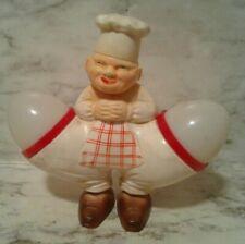 Koziol CREEPY Fat Chef EGG-BERT w/ EGGS in Pockets Salt & Pepper Shaker Set