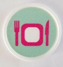 More details for plastic meal token - printed both sides - bag of 100 - cafe, event, restaurant