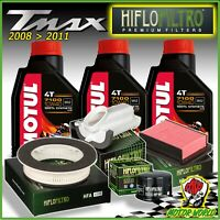 Set Entretien 3 Lt MOTUL 7100 10W40 + 3 Filtres Air 1 Huile Yamaha Tmax 500 2010