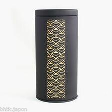 茶収納箱 Chashuunoubako - Boite à thé métal noir mat - Waves - Made in Japan