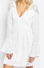 Damenkleider im Boho -/Hippie-Stil mit V-Ausschnitt aus Baumwollmischung