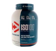 NEW DYMATIZE NUTRITION ISO-100 HYDROLYZED 100% WHEY PROTEIN ISOLATE STRAWBERRY