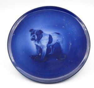 Antique bulldog Plate Ridgways pottery Staffordshire, England, Vintage