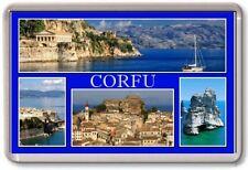 FRIDGE MAGNET - CORFU - Large - Greece TOURIST