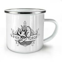 Never Forget Animal NEW Enamel Tea Mug 10 oz | Wellcoda