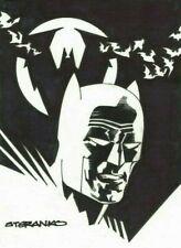 JIM STERANKO ORIGINAL BATMAN ART SIGNED & SKETCHED w/ COA RARE DC COMICS NOT CGC