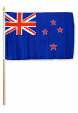 "12x18 12""x18"" New Zealand Stick Flag wood staff"