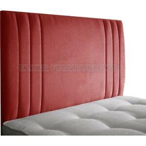 Headboard Stripe Chenille 24 inch   2ft6, 3ft, 4ft, 4ft6, 5ft, 6ft