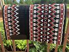 "Western Show Saddle Pad Blanket Oversized, Black, Grey, White, Red, 34x41"""