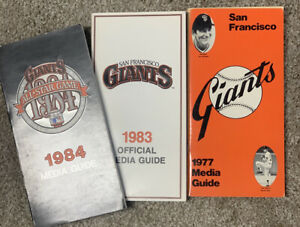 SF Giants Media Guides Lot (3) 1977, 1983, 1984 - McCovey in 1977 - NM