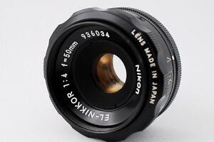 NearMint Nikon 50mm F4 EL Nikkor 39mm Mount  Lens and Lenscase fromjapan No.052