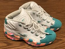 Reebok M44624 Mens Iverson Question Mid White Noise Green Orange Shoes Sz 7 8fdb7cb42