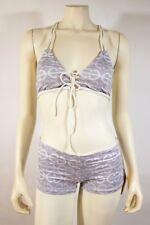 KORU Swimwear Gray White Print Boy Short Bikini - size S / M