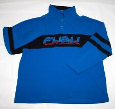 "FUBU Sports Collection 1/4"" Zip Pullover Fleece Jacket Size XL Blue/Black/Red"