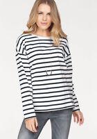 SELECTED FEMME Langarmshirt »NATALI«, weiß-schwarz. Gr. S. NEU!!!
