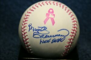MARTY BRENNAMAN AUTOGRAPHED SIGNED RAWLINGS PINK CANCER BASEBALL CINCINNATI REDS