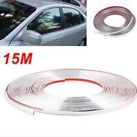 10 Meter Soft PVC Chrome Decoration Protector Moulding Trim Strip Car Bumper Lip
