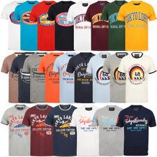 Tokyo Laundry Mens Crew Neck T-Shirt Vintage Retro Graphic Print Top Size S-XXL