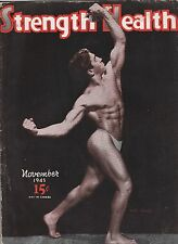 Strength and Health,Nov. 1945-Angelo Caminiti On The Cover