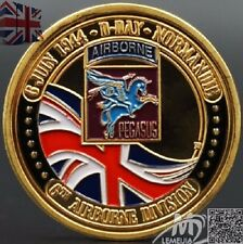 D-Day Normandie War | UK 6th Airborne Division | Gold Plated Challenge Coin