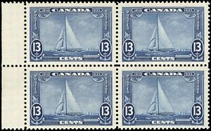 Canada Mint NH F-VF Block of 4 13c Scott #216 1935 Silver Jubilee Stamps