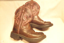 Justin Gypsy L9903 Brown / Pink Trim Leather Size 6B Quite Nice