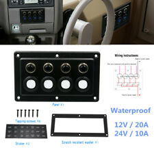 4Gang RV Car Yacht Boat Cabin Single Touch Switch Panel Control Light Horn Winch