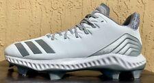New listing Mens Adidas Icon Bounce TPU Baseball/Softball Cleats Size 7.5/9/9.5 White/Grey
