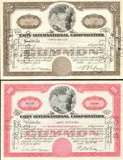 Coty International Corporation > 1940s Set of 2 certificate stock