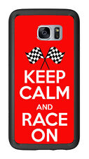 Keep calm and Race On For Samsung Galaxy S7 G930 Case Cover by Atomic Market