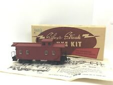 Ho scale Silver Line 28 foot 4 window caboose wood kit ft craftsmen