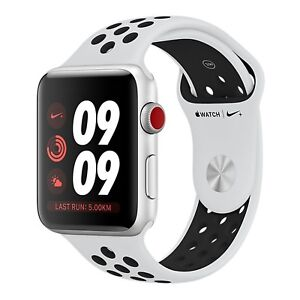 BNIB 38MM Apple Watch Nike+ Series 3 Silicone Strap 16GB Factory Unlocked 4G